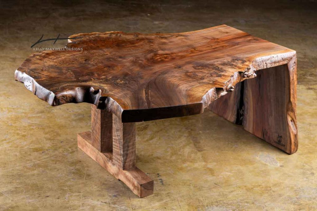 Waterfall live edge coffee table