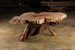 Maple burl coffee table