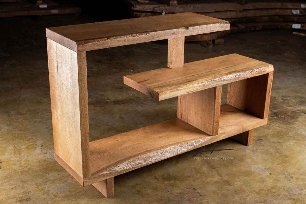 Rustic modern console table